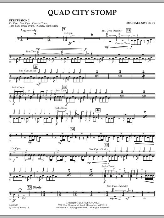 Quad City Stomp - Percussion 2 (Concert Band)