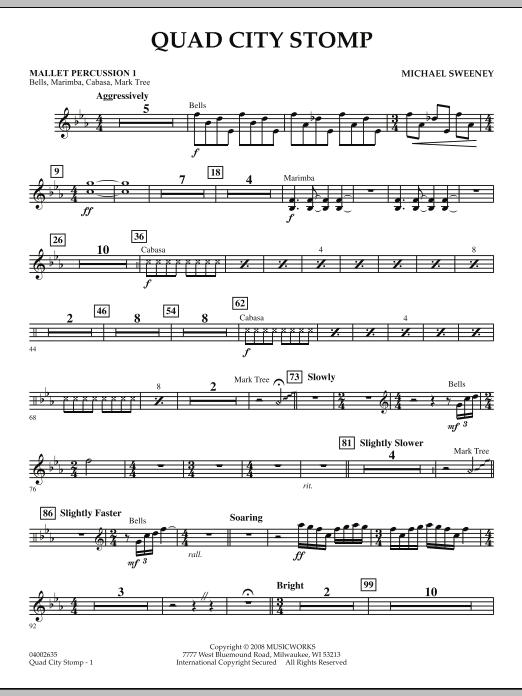 Quad City Stomp - Mallet Percussion 1 (Concert Band)