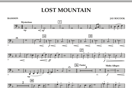 Lost Mountain - Bassoon (Concert Band)