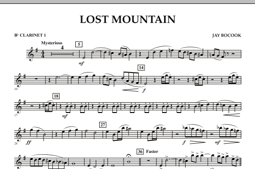 Lost Mountain - Bb Clarinet 1 (Concert Band)
