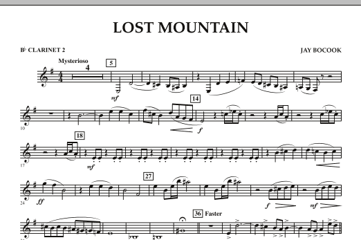 Lost Mountain - Bb Clarinet 2 (Concert Band)