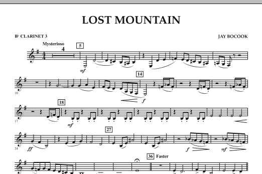 Lost Mountain - Bb Clarinet 3 (Concert Band)