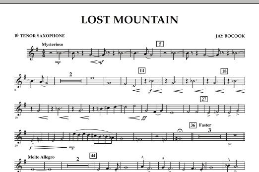 Lost Mountain - Bb Tenor Saxophone (Concert Band)