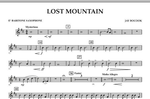 Lost Mountain - Eb Baritone Saxophone (Concert Band)