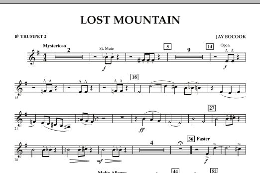 Lost Mountain - Bb Trumpet 2 (Concert Band)