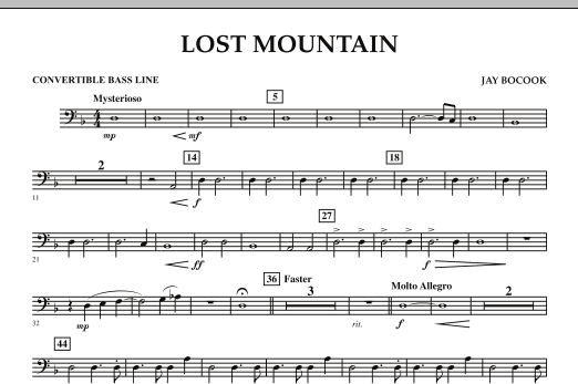 Lost Mountain - Convertible Bass Line (Concert Band)