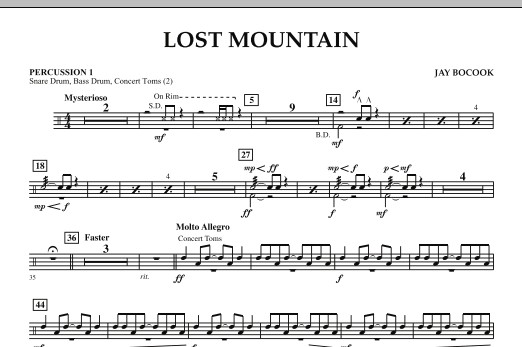 Lost Mountain - Percussion 1 (Concert Band)