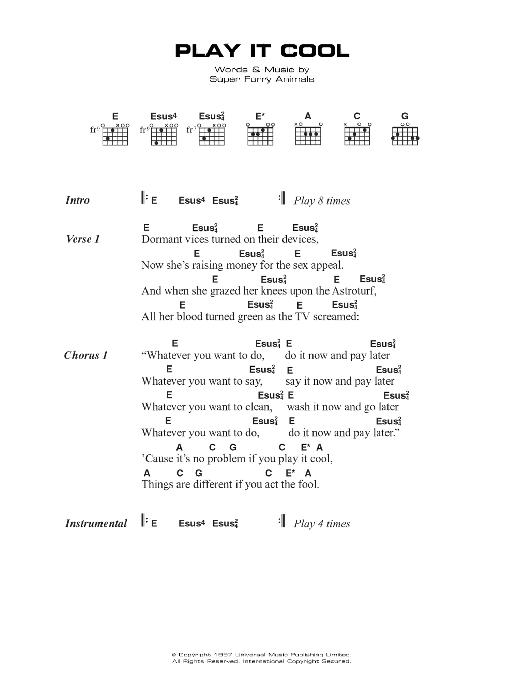 Play It Cool Sheet Music