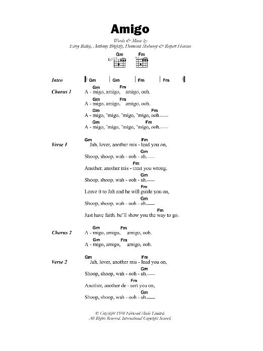 Amigo Sheet Music