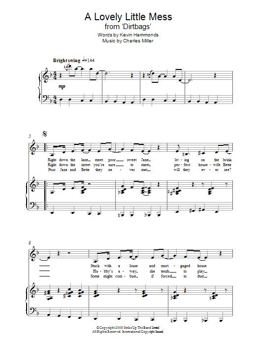 A Lovely Little Mess (from Dirtbags) Sheet Music
