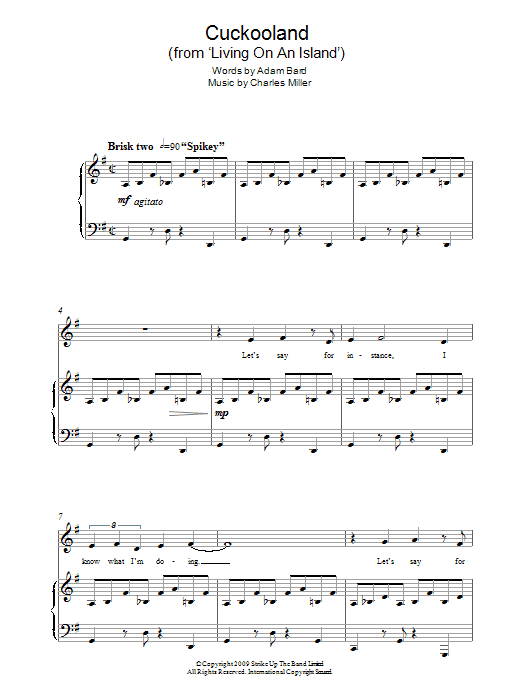 Cuckooland (from Living On An Island) Sheet Music