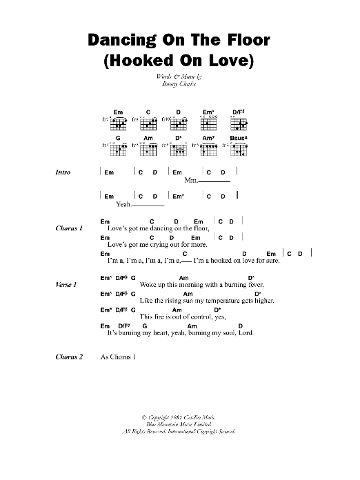 Dancing On The Floor (Hooked On Love) Sheet Music