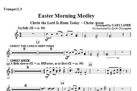 Easter Morning Medley - Bb Trumpet 2,3 Sheet Music