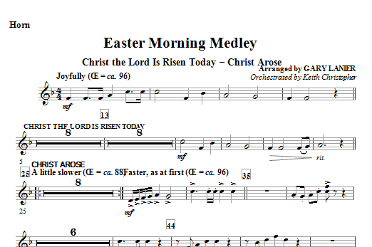 Easter Morning Medley - F Horn Sheet Music