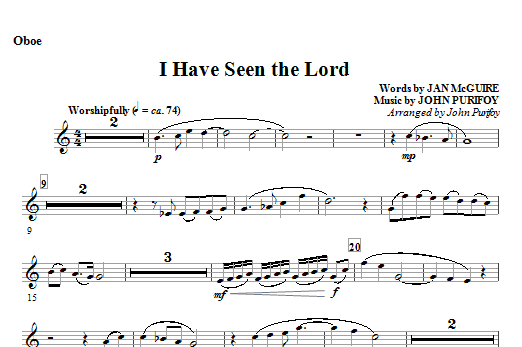 I Have Seen the Lord - Oboe Sheet Music
