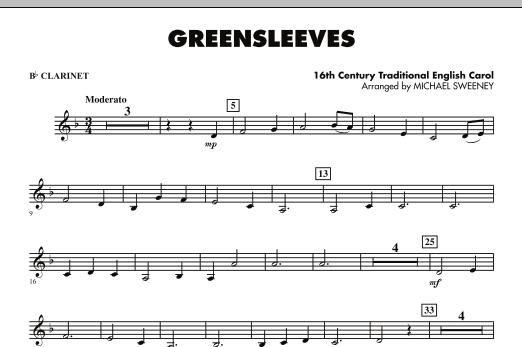Greensleeves - Bb Clarinet (Concert Band)