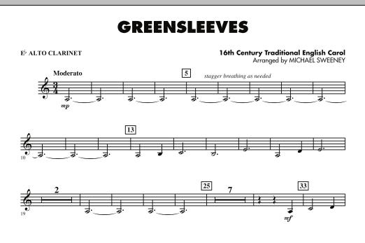 Greensleeves - Eb Alto Clarinet (Concert Band)