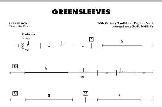 Greensleeves - Percussion 2 (Concert Band)