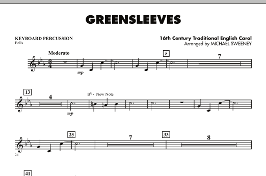 Greensleeves - Keyboard Percussion (Concert Band)