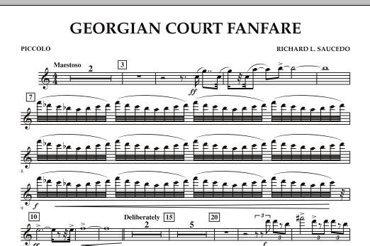 Georgian Court Fanfare - Piccolo (Concert Band)