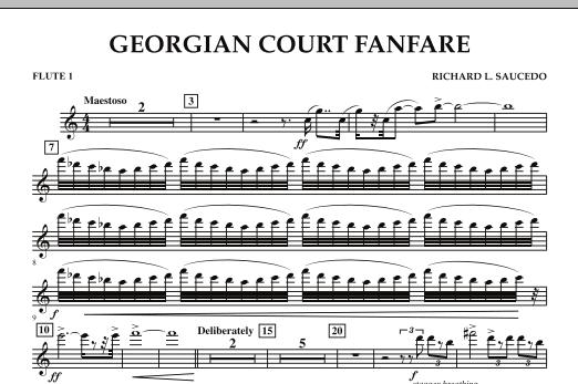 Georgian Court Fanfare - Flute 1 (Concert Band)