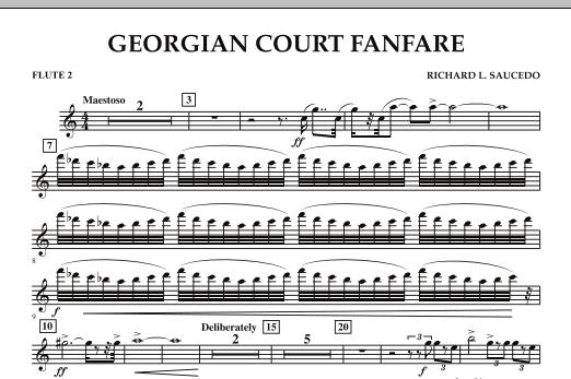 Georgian Court Fanfare - Flute 2 (Concert Band)