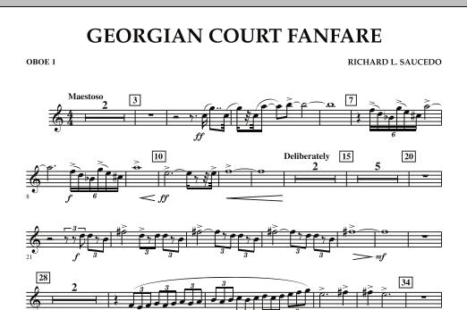 Georgian Court Fanfare - Oboe 1 (Concert Band)