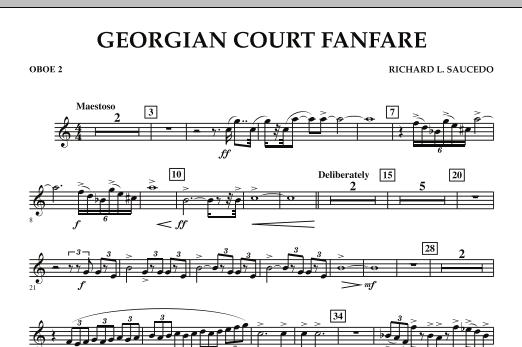 Georgian Court Fanfare - Oboe 2 (Concert Band)