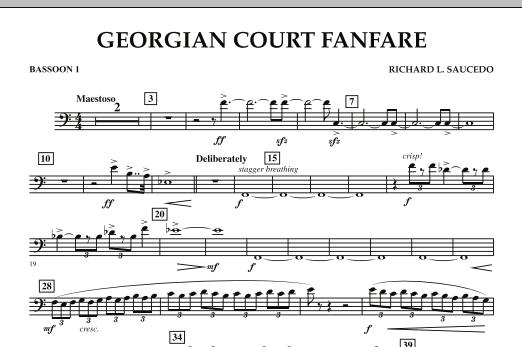 Georgian Court Fanfare - Bassoon 1 (Concert Band)