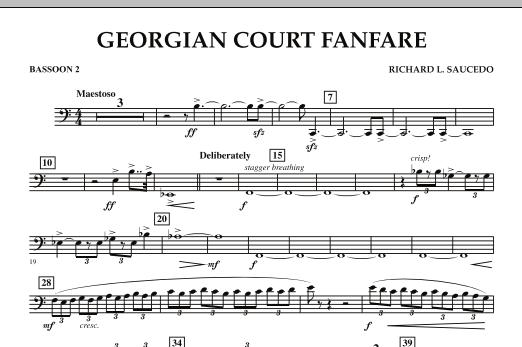 Georgian Court Fanfare - Bassoon 2 (Concert Band)