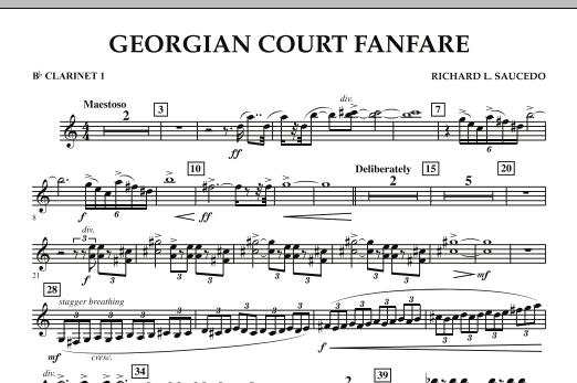 Georgian Court Fanfare - Bb Clarinet 1 (Concert Band)