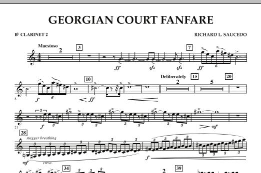 Georgian Court Fanfare - Bb Clarinet 2 (Concert Band)