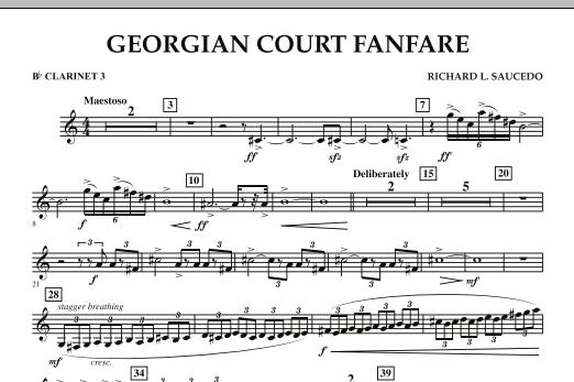 Georgian Court Fanfare - Bb Clarinet 3 (Concert Band)
