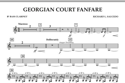 Georgian Court Fanfare - Bb Bass Clarinet (Concert Band)