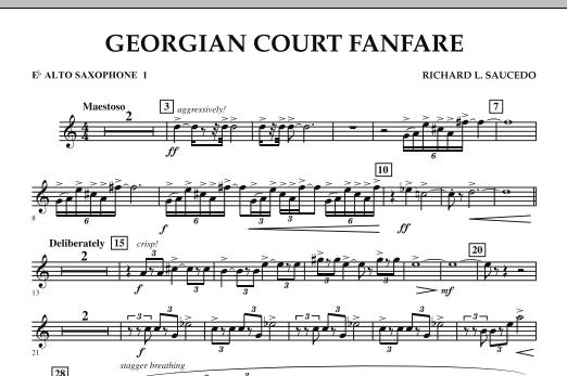 Georgian Court Fanfare - Eb Alto Saxophone 1 (Concert Band)
