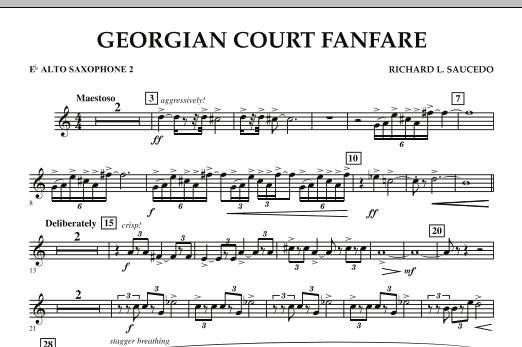 Georgian Court Fanfare - Eb Alto Saxophone 2 (Concert Band)