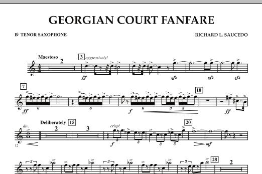 Georgian Court Fanfare - Bb Tenor Saxophone (Concert Band)