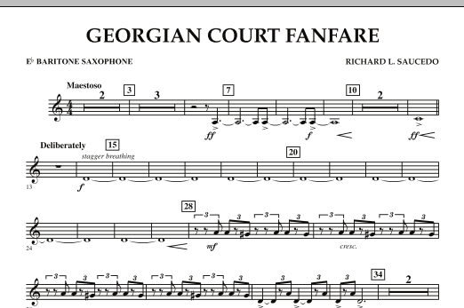 Georgian Court Fanfare - Eb Baritone Saxophone (Concert Band)