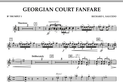 Georgian Court Fanfare - Bb Trumpet 1 (Concert Band)