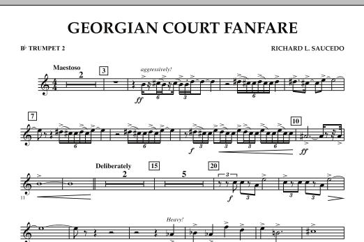 Georgian Court Fanfare - Bb Trumpet 2 (Concert Band)