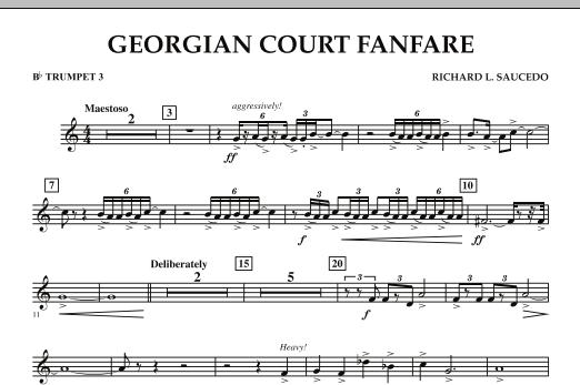 Georgian Court Fanfare - Bb Trumpet 3 (Concert Band)