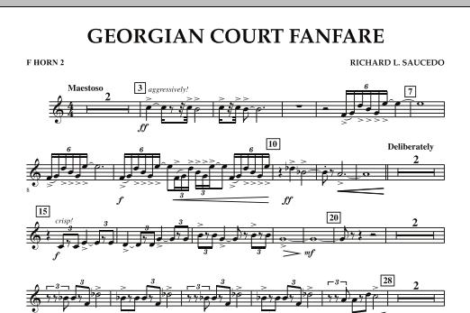 Georgian Court Fanfare - F Horn 2 (Concert Band)