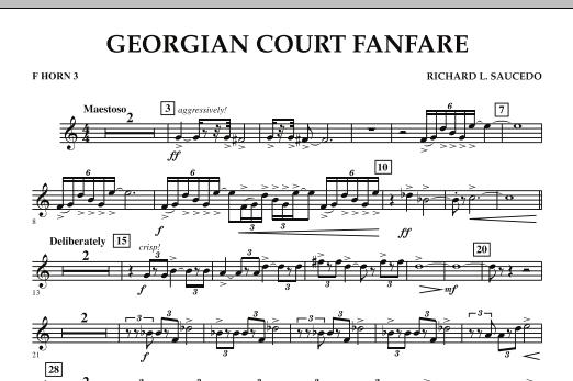 Georgian Court Fanfare - F Horn 3 (Concert Band)