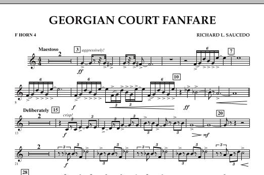 Georgian Court Fanfare - F Horn 4 (Concert Band)