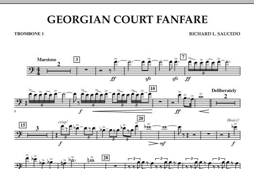 Georgian Court Fanfare - Trombone 1 (Concert Band)