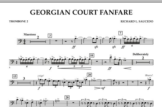 Georgian Court Fanfare - Trombone 2 (Concert Band)