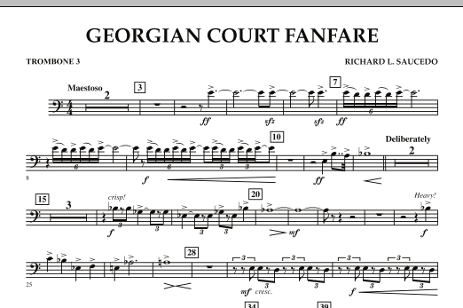 Georgian Court Fanfare - Trombone 3 (Concert Band)