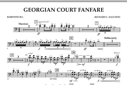 Georgian Court Fanfare - Baritone B.C. (Concert Band)