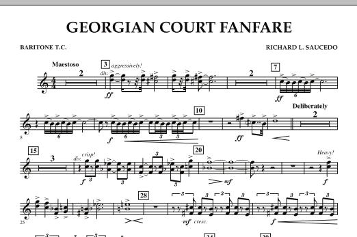 Georgian Court Fanfare - Baritone T.C. (Concert Band)