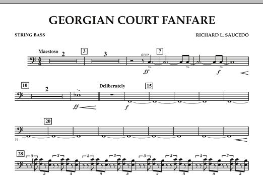 Georgian Court Fanfare - String Bass (Concert Band)